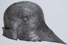 """""""Sallet"""" helmet, 1480-90  Southern Germany  www.higgins.org"""
