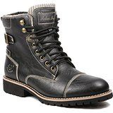 Amazon.com | Polar Fox MPX-506015 Black Mens Buckle Strap Military Fold Down Combat Work Desert Ankle Boot w/ Fur | Motorcycle & Combat