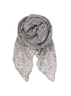 Beck Sonder Gaard reflected leo cat grey scarf