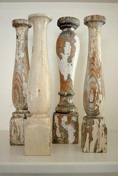 adore...repurpose as candlesticks or pillar holders