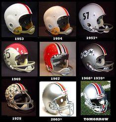 Past Buckeye helmets