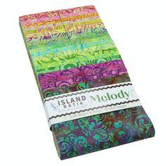 Island Batik Fabrics Melody Strips - Jelly Roll 40 Fabric Strips