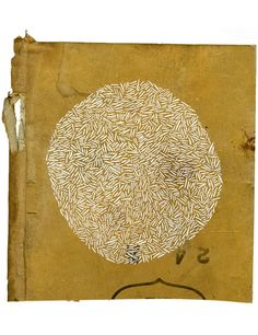 attentives: december: let's consider our insignificance… by Olivia Jeffries gouache on cardboard panel (from Sketches 2009 series) Art Textile, Art Graphique, Handmade Books, Mark Making, Collages, Fiber Art, Book Art, Abstract Art, Illustration Art