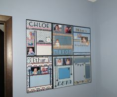 Finished my Pinterest project-  Message Boards for the  DC parents!  Dry Erase Markers wipes right off--<3  it!