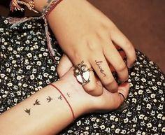 cute wrist tattoo I like the birds