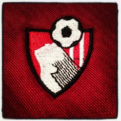 My AFC Bournemouth badge that my mum sewed onto my bag for me