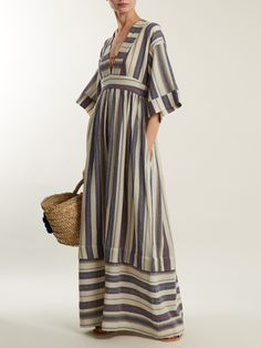 Ferrers striped cotton-blend dress   Three Graces London   MATCHESFASHION.COM AU