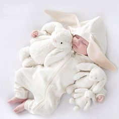 Infant Clothing Overalls Baby Rompers For Baby Girls Jumpsuit Halloween Costume Newborn Baby Boys Clothes Baby Bunny Ears, Rabbit Baby, Baby Bunnies, Bunny Toys, Cat Ears, Kids Costumes Girls, Baby Halloween Costumes, Halloween Clothes, Christmas Clothes