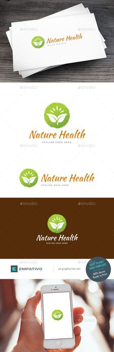 Nature Health - Logo Design Template Vector #logotype Download it here: http://graphicriver.net/item/nature-health-logo-template/15679052?s_rank=34?ref=nexion