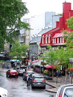 A Quebec City Streetscene - Quebec, Canada