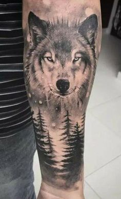 35 Superb Forearm Tattoos For Men 2020 - Bebeautylife Wolf Tattoos Men, Tribal Wolf Tattoo, Native Tattoos, Bear Tattoos, Wolf Tattoo Design, Badass Tattoos, Lion Tattoo, Tattoos For Guys, Wolf Sleeve