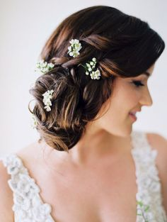 Loose Updo Wedding Hairstyle Inspiration