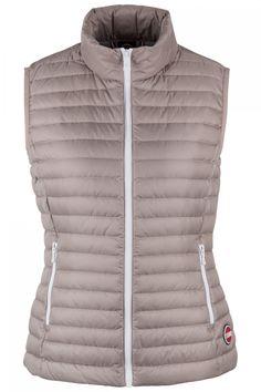 Colmar Damen Daunenweste Punk Jupiter-Light Steel | SAILERstyle Punk, Winter Jackets, Vest, Fashion, Mandarin Collar, Bags, Women's, Winter Coats, Moda