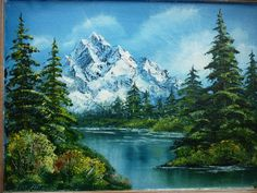 Александр Плющев | ВКонтакте Bob Ross Paintings, Scenery Paintings, Mountain Paintings, Nature Paintings, Beautiful Paintings, Acrylic Paintings, Landscape Paintings, Landscape Photography, Nature Photography