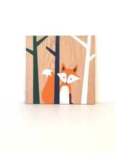 Bosque vivero arte  Fox vivero  zorro Art  animales