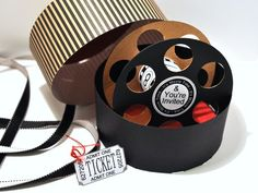 Movie Reels, Film Reels, Cinema Party, Fair Theme, Movie Night Party, Hollywood Theme, Shaped Cards, Bff Gifts, Teen Birthday