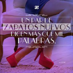 Las palabras sobran cuando estrenamos zapatos. #LoqMasMeGustaDeAndrea