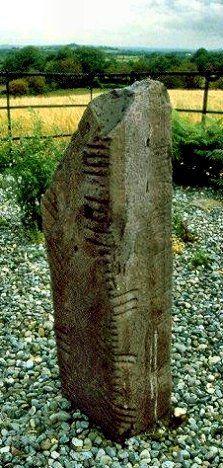 Ogham stone, Kilcoolaght, county Kerry, Ireland