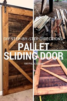Stylish Rustic Sliding Pallet Interior Door Pocket doors are beautiful, but they're expensive and challenging to retrofit to a home. Instead, make a beautiful, handmade Sliding Pallet Interior Door. It'll eliminate the issue of small rooms and door cleara Pallet Door, Pallet Barn, Pallet Walls, Diy Barn Door, Pallet Furniture, Making Barn Doors, Pallet Couch, Outdoor Pallet, Sliding Barn Door Hardware