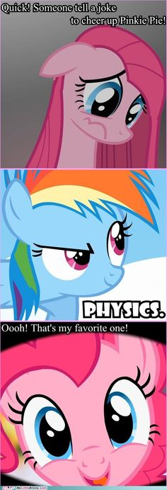 What makes Pinkie Pie laugh?
