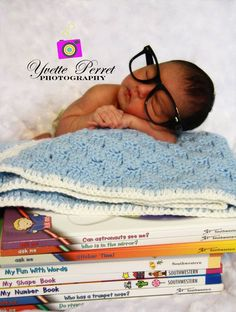 Baby studying
