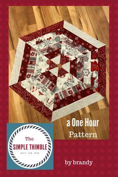 Jump start your Holiday sewing with this fun, fast, and FREE pattern for a Christmas Tree Skirt or Table Topper. | The Simple Thimble | Quilt | Sew | Blog Diy Christmas Tree Skirt, Christmas Tree Skirts Patterns, White Christmas, Christmas Crafts, Christmas Ornaments, Christmas Trees, Christmas Bells, Christmas Sock, Christmas Runner