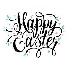 Saudações Happy Easter sinal caligráfico