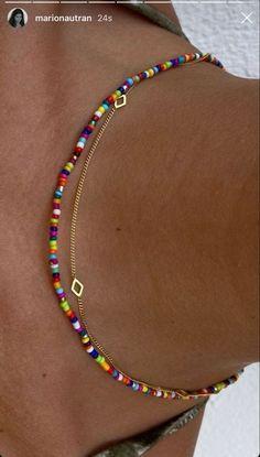 Bead Jewellery, Beaded Jewelry, Jewelery, Handmade Jewelry, Beaded Bracelets, Anklet Bracelet, Beaded Choker, Silver Necklaces, Cute Jewelry