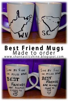 Shantastic!- Best friends Mugs.... a growing fan favorite :) going to make these with Megan!