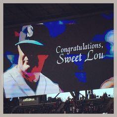 Sweet Lou, Hall of Fame Night