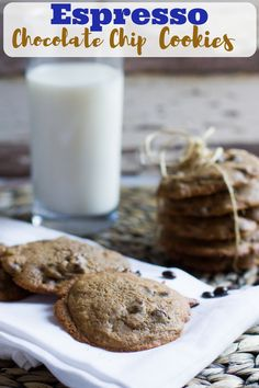 Your favorite cookie recipe with the best secret ingredient: espresso! These sweet, melt in your mouth cookies go perfectly with a glass of milk.