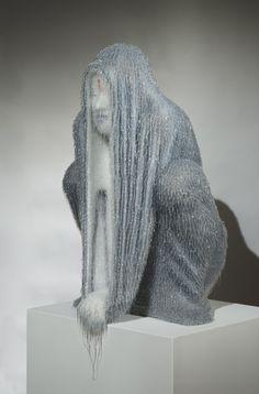 Marcello Gobbi, Ascesi, 2012, work in silicone and fiberglass, cm 79x49x44 Courtesy IAGA International Art Gallery Angels