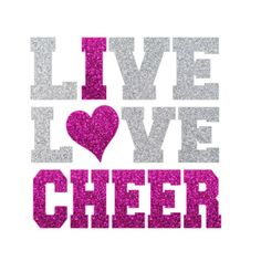 Live Love CHEER Iron On Love Cheerleading by IHeartHoundstooth