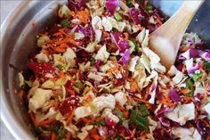 Crispy Oriental Salad - Whole Food Recipes - low carb, healthy, and yummy!  Another pinner suggested adding soy sauce, which I think is a good idea.  I might also add a touch of sesame oil for flavor.