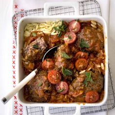 Traditional Greek keftede: A classic Greek dish of meatballs smothered in tomato sauce. Greek Dishes, Recipe Search, Tomato Sauce, Baking Recipes, Delicious Desserts, Greece, Beef, Meals, Traditional