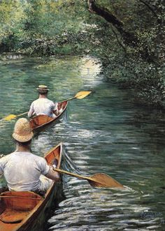 CAILLEBOTTE, Gustave  [French Impressionist Painter, 1848-1894]  Canoeing1878