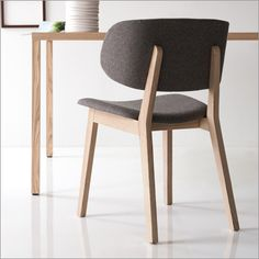 calligaris claire chair, fabric and wood by orlandini design