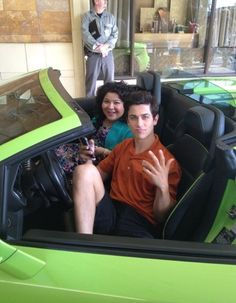 "Photo: Raini Rodriguez And David Henrie Working On ""Paul Blart: Mall Cop 2″"