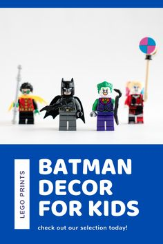 Lego Wall Art, Batman Wall Art, Kids Room Wall Art, Home Decor Wall Art, Nursery Wall Art, Batman Robin, Toddler Room Decor, Kids Decor