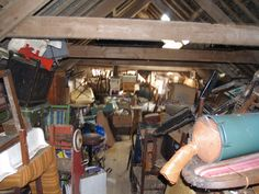 Inside a barn where the collection of a lifetime was left when the owner died. Hundred's of thousands of items, now all sorted and re-homed.