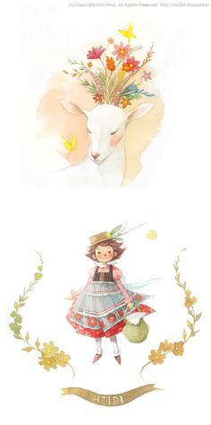 Heidi characters / © Kim Minji - illustrator