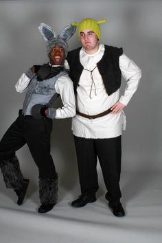 LOVE THESE COSTUMES for Donkey and Shrek- Love the idea of a dapper donkey and shrek NOT hidden by makeup and prosthetics