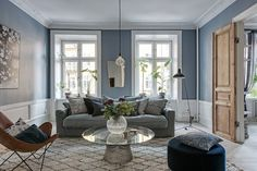 Die Wandfarbe fürs Wohnzimmer nach Feng Shui auswählen – Tipps und Ideen The wall color for the living room to choose Feng Shui – Tips and Ideas – Decoration House House Design, Room Design, Decor, Small Living Room Design, Living Room Scandinavian, Home, Interior, Small Living Rooms, Home Bedroom