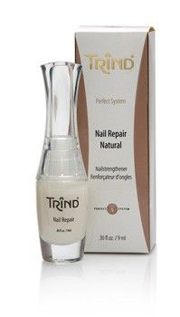Healthy, strong nails in just two weeks. TRIND Nail Repair is a unique nail strengthener. Compared to most nail hardeners that are available, TRIND Nail Repair creates a perfect balance between the percentages of keratin and moisture in the nail, making the nail both strong and flexible.  http://www.trind.com/products/trind-nail-repair-natural