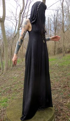 Hell Couture Spellcaster Maxi Dress by HellCouture on Etsy