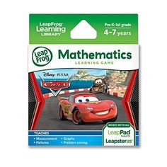 LeapFrog Learning Game Disney-Pixar Cars 2 (works with LeapPad Tablets, Leapster GS and Leapster Explorer), http://www.amazon.com/dp/B004MWN0Y0/ref=cm_sw_r_pi_awdm_Pmy1tb1TQQRPQ