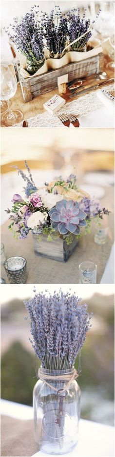 lavender themed wedding centerpiece ideas