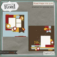 Road Maps Vol. 5-A by Down This Road Designs: $1.50 @ www.browniescraps.com