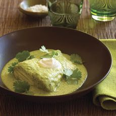 Halibut Baked in Fresh Green Salsa Recipe