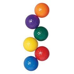 US Games color My Class Golf Balls Each set includes 1 of each color: blue, green, orange, purple, Red and Yellow Great for beginners Manufactured in Taiwan Diy Yard Games, Backyard Games, Outdoor Games, Office Golf, Classic Golf, Miniature Golf, Baby Girl Toys, Putt Putt, My Glass